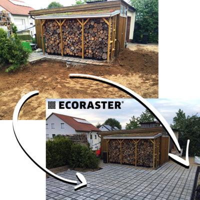 ECORASTER- zatravňovací dlažba- ECORASTER BLOXX- využití v praxi