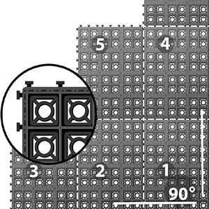 Drenážní dlažba ECORASTER BLOXX - pokládka