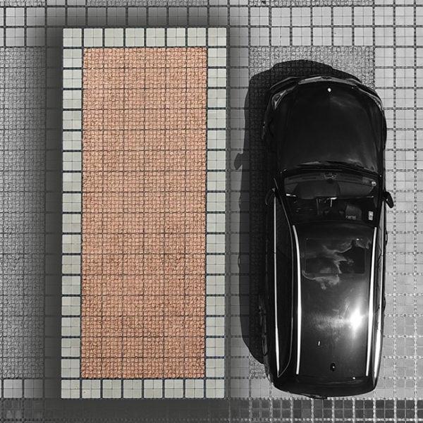 Parkovací misto-komplet složení- zatrávňovací dlažba ECORASTER + drenážní dlažba ECORASTER BLOXX