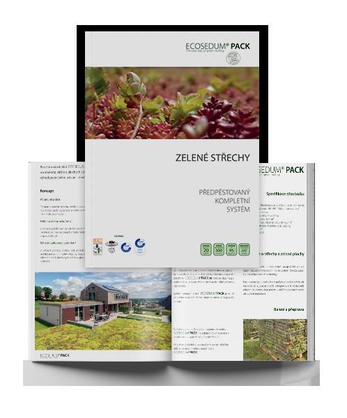 zelená střecha ECOSEDUM PACK prospekt